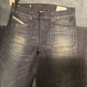 Diesel flared bottom jeans size 26 long 34 NWT